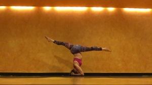 headstand splits